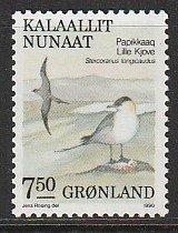 1990 Greenland - Sc 187 - 1 single - MNH VF - Stercorarius longicaudus