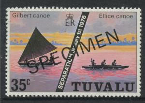 Tuvalu - Scott 18 - Specimen Gilbert & Ellice -1976 - MNH - Single 35c Stamp