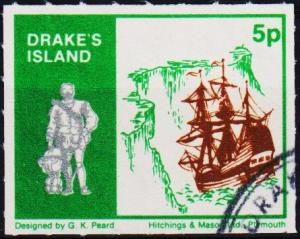 Great Britain(Drake's Island). Date? 5p Fine Used