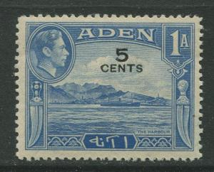 STAMP STATION PERTH Aden #36 KGVI Definitive Overprint Issue 1951 MNH CV$0.25.
