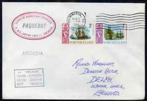 Norfolk Island used in Wilmington (California) 1968 Paque...