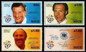 Niue 1990 Scott #578-581 Mint Never Hinged