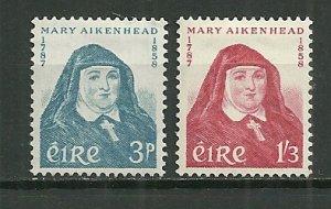 1958 Ireland 167-8 Mother Mary Aikenhead C/S of 2 MH