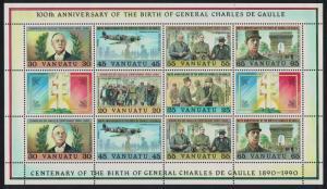 Vanuatu Birth Centenary of General Charles de Gaulle French statesman 6v