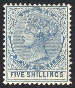Nigeria Lagos 1886 5s Blue SG 28 Scott 35 MM/MH Cat £700($861)