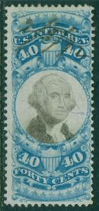 USA : 1871. Scott #R114 VF, Choice stamp with neat manuscript cancel. Cat $130