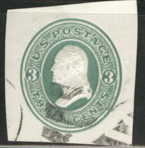 USA Scott U84 cut square