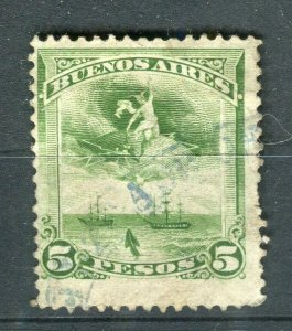 ARGENTINA BUENOS AYRES 1900 early classic Revenue issue fine used 5P.