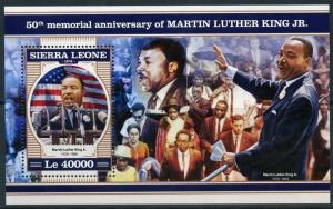 SIERRA LEONE 2018 50th MEMORIAL ANN  OF MARTIN LUTHER  KING, Jr  S/S  MINT NH
