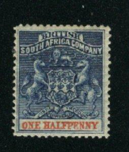 Rhodesia #1     Mint 1890-94 PD