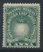 British East Africa Company SG 5b SC#15 Mint Hinged - perf 14 dp blue green -...