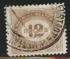 Austria Scott J29 Used from 1899-1900 postage due set