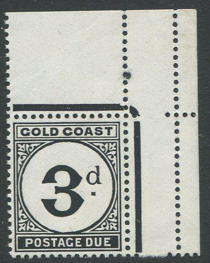 Gold Coast J6 Mint NH UR corner single. $1 combined shipping