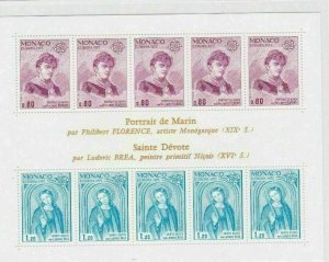 MONACO 1977 ST MICHAELS   STAMPS SHEET MINT NEVER HINGED CAT £70+     R2629