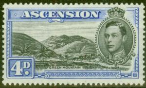 Ascension 1940 4d Black & Ultramarine SG42c V.F Very Lightly Mtd Mint