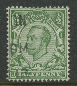 Great Britain -Scott 153 - KGV Definitive -1912 - Used - Single 1/2p Stamp