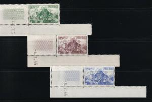 South Viet Nam - 1955 - SC 27 - 29 - MNH - White Gum - With Coin Date