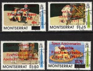 MONTSERRAT SG945/8 1994 SPACE ANNIVERSARIES FINE USED