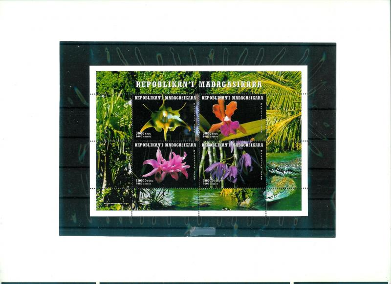 Madagascar - ORCHIDS - S/S - MNH