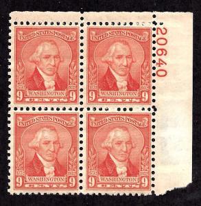 714 Mint,OG,NH... Plate Block of 4... SCV $45.00