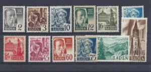 Germany (Baden), 5N1-13, Various Designs Singles,**MNH**