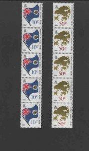 HONG KONG #509-510  1987  FLAG AND MAP    MINT  VF NH  O.G  S/5
