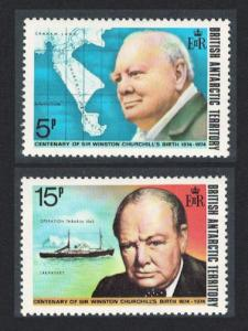 BAT Birth Centenary of Sir Winston Churchill 2v SG#61-62
