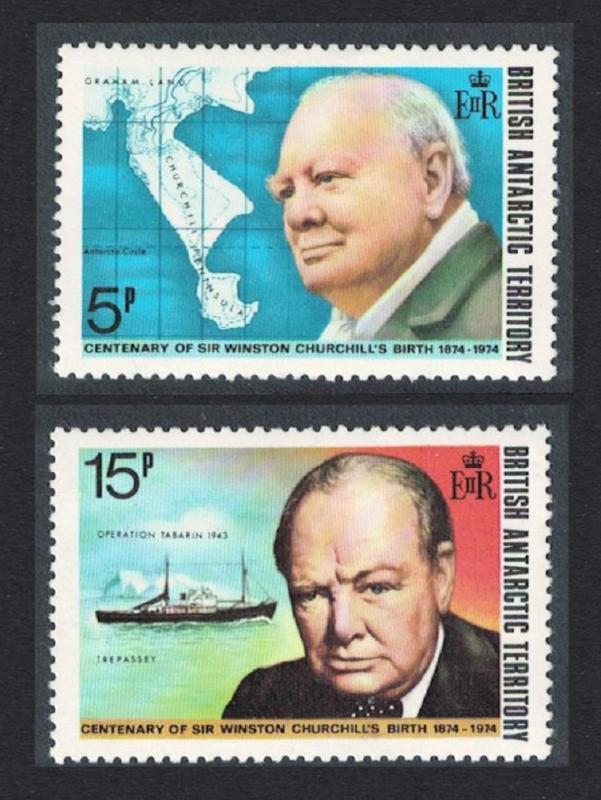 BAT Birth Centenary of Sir Winston Churchill 2v 1974 MNH SG#61-62