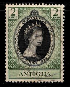 ANTIGUA Scott 106 Used QE2 Coronation nicely centered stamp