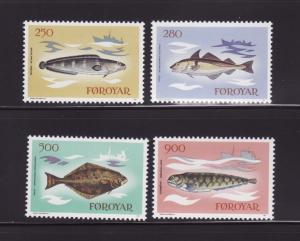 Faroe Islands 97-100 Set MNH Fish (A)