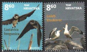 Croatia. 2019. 1378-79. Birds, Europe-Sept. MNH.