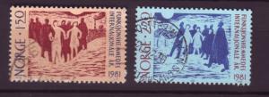 J2512 JLS stamps 1981 norway used set/2 #790-1 disabled