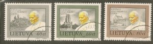 Lithuania  Scott 461-2,464   Visit of Pope  CTO