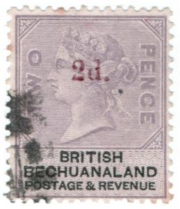 (I.B) British Bechuanaland Revenue : Duty Stamp 2d on 2d OP