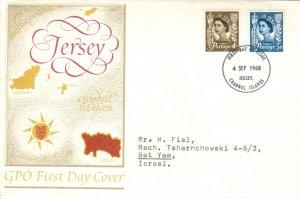Great Britain Regionals Scott Jersey 4, 6 Typewritten Address.