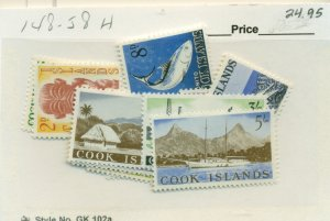 COOK ISLANDS #148-58, Mint Hinged, Scott $24.95