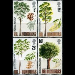 BR.HONDURAS 1971 - Scott# 283-6 Hardwood Woods Set of 4 NH