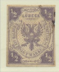 Lubeck (German State) Stamp Scott #6, Used, Fault - Free U.S. Shipping, Free ...