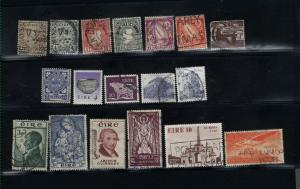 Ireland 18 different  used PD .90