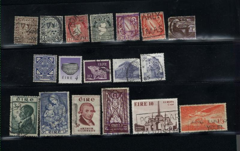 Ireland 18 different  used PD