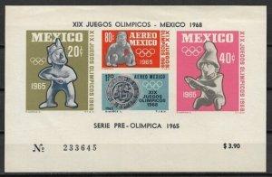 1965 Mexico C310a Summer Olympics MNH S/S