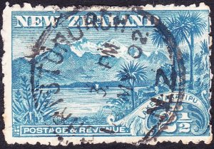 NEW ZEALAND 1899 2.5dBlue Perf 11SG260 Used