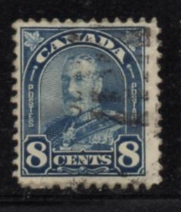 Canada Sc 171 1930 8 c blue G V Arch issue stamp used