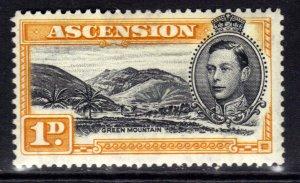 Ascension Island 1938 - 53 KGV1 1d Green Mountain MM SG 39b ( R627 )