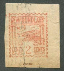 NEWFOUNDLAND METER POSTAGE STAMP - 2¢