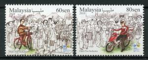 Malaysia 2018 MNH World Post Day 2v Set Motorcycles Postal Services Stamps