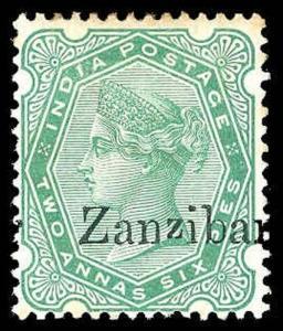 ZANZIBAR-a-Pre 1900 (to 78) 7(VAR)  Mint (ID # 78288)