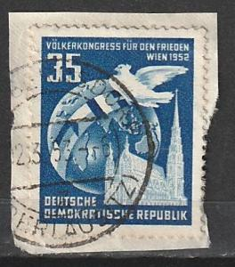 #119 Germany DDR Used on paper