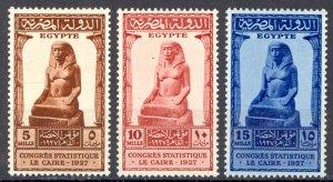 Egypt Sc# 150-152 MH 1927 Statistical Congress