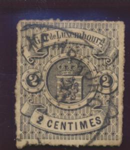 Luxembourg Stamp Scott #14, Used - Free U.S. Shipping, Free Worldwide Shippin...